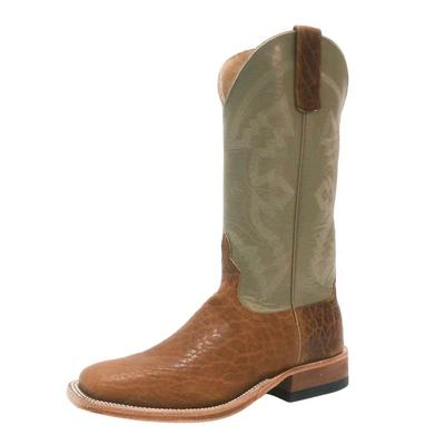 Anderson Bean Men's Cognac Tuscan Bison Western Boots