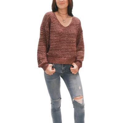 Dear John Women's Lexie Rosewood Sweater
