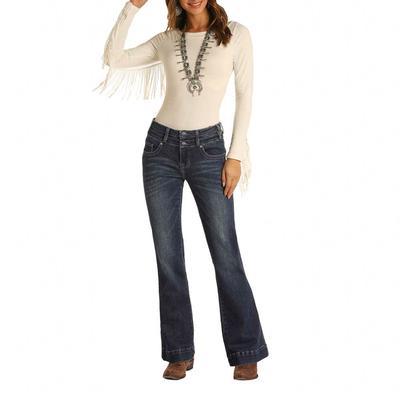 Rock&Roll Women's Mid Rise Trouser Jeans