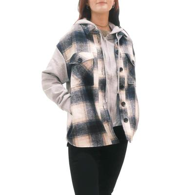 Women's Plaid and Grey Dickie Shacket