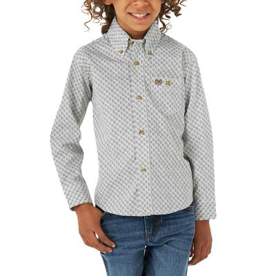 Wrangler Boy's Classic Long Sleeve Button Down Shirt