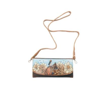 American Darling Reverse Painted Trifold Crossbody