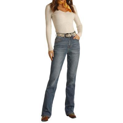 Rock&Roll Women's Medium Wash Bootcut Jeans