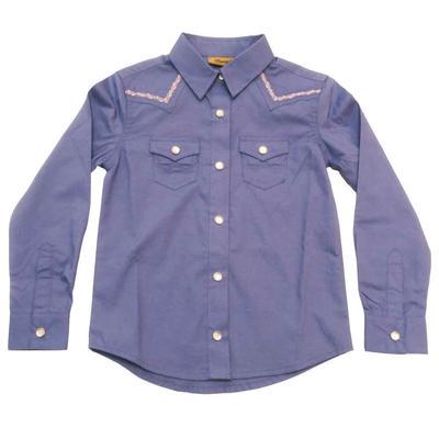 Wrangler Girl's Purple Western Top