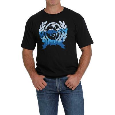 Cinch Men's Ombre Blue Logo Tee