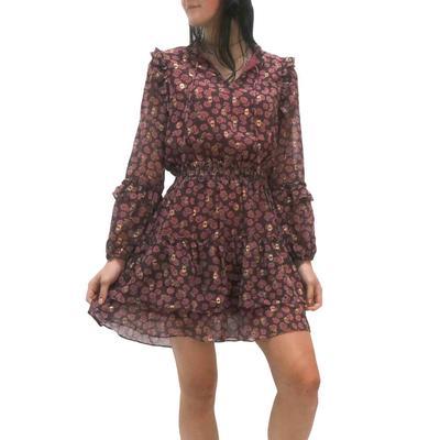 Joy Joy Women's Ruffles Around Mini Dress