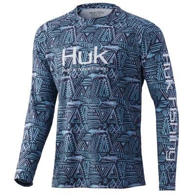Huk Men's Marlin Batik Long Sleeve