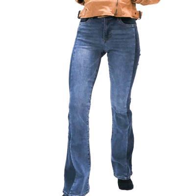 Dear John Women's Two-Tone Denim Flare Jeans