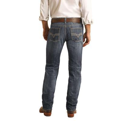 Rock & Roll Men's Revolver Slim Straight Jeans