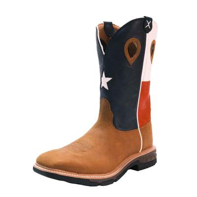 Twisted X Men's Texas Flag Western Work Boots