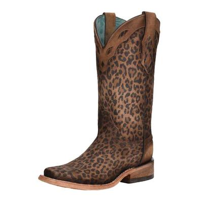 Corral Women's Sand Leopard Overlay Western Boots
