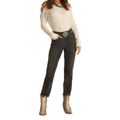 Rock&Roll Women's Straight Cropped Jeans