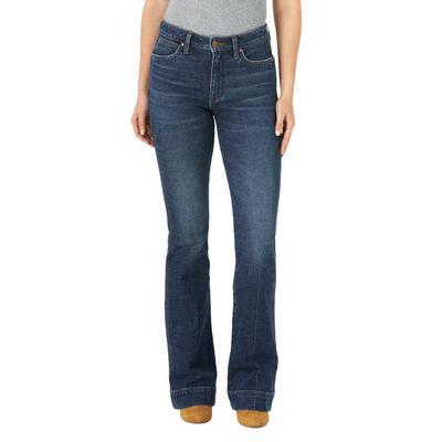 Wrangler Women's Green Retro Trouser Jeans