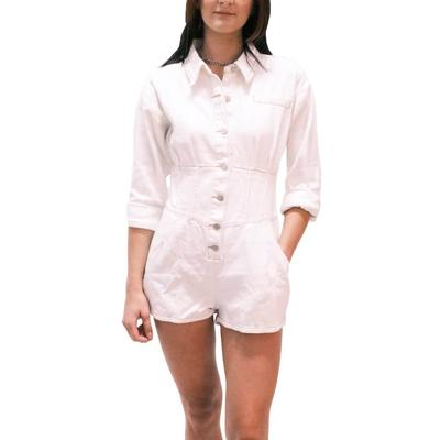 Women's White Denim Jumpsuit