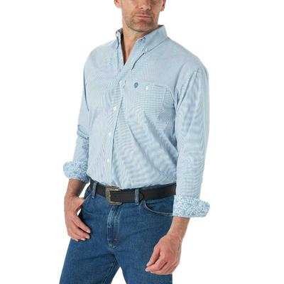 Wrangler Men's George Strait Sky Blue Button Down