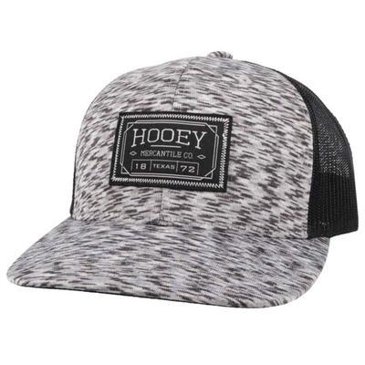 Hooey Men's Doc 6 White and Black Trucker Cap