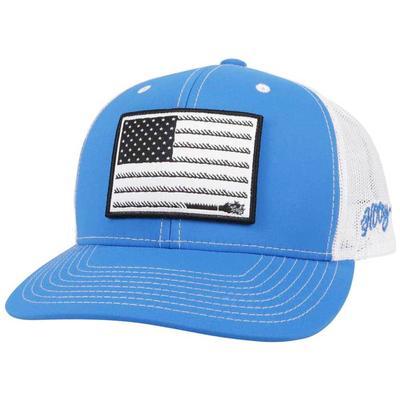 Hooey Men's Liberty Roper 6 Panel Blue Trucker Cap