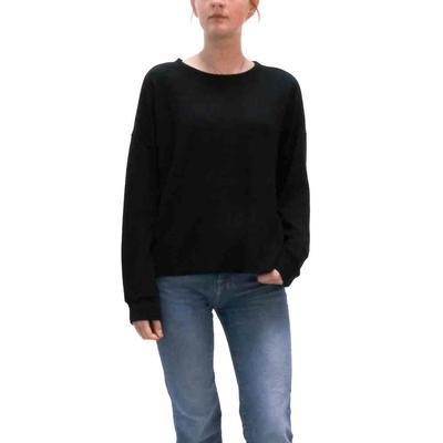 Dylan Women's Black Ribbed Knit Dolman Top