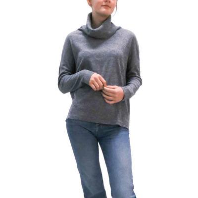 Dylan Women's Flecked Fleece Cowl Neck Top