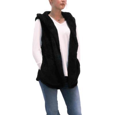 Dylan Women's Oversized Cozy Black Vest