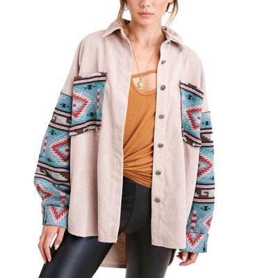 Women's Beige Aztec Kayla Jacket