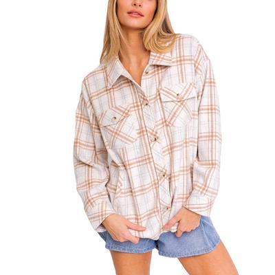 Women's Oversized Plaid Shacket