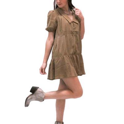 Women's Tiered Button Down Dress