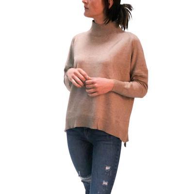 Jade Women's Mock Neck Pullover Sweater