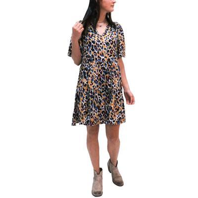 Jade Women's Flutter Sleeve Tiered Dress