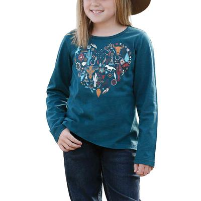 Cinch Girl's Teal Knit Top