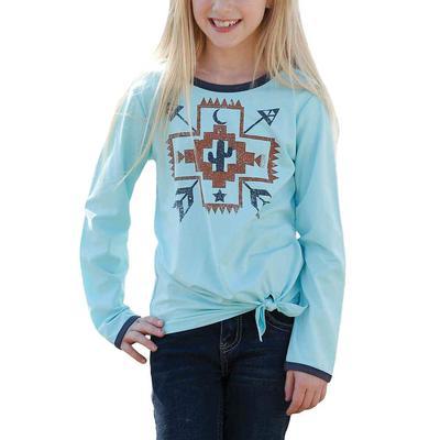 Cruel Girl's Cross Aztec Long Sleeve T-Shirt