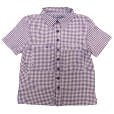 Game Guard Boy's Purple TekCheck Shirt