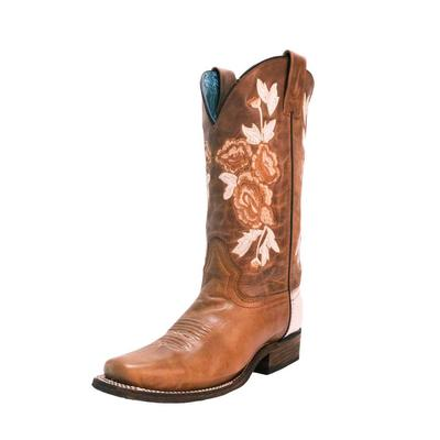 Circle G by Corrall Women's Honey Floral Embroidered Western Boots