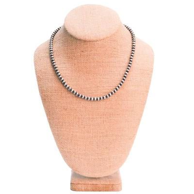 Women's 18 Inch Sterling Silver Pearl Necklace