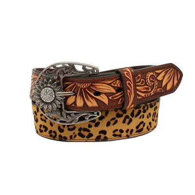 M&F Western Leopard Print Sunflower Belt
