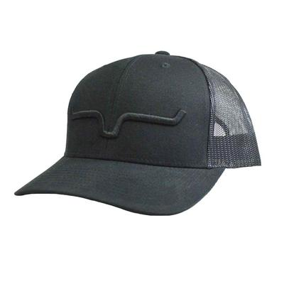 Kimes Ranch Black Weekly Trucker Cap