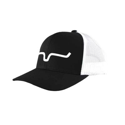Kimes Ranch Men's Black and White Weekly Trucker Cap