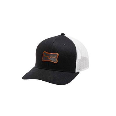 Kimes Ranch Men's Black Leather Bone Cap