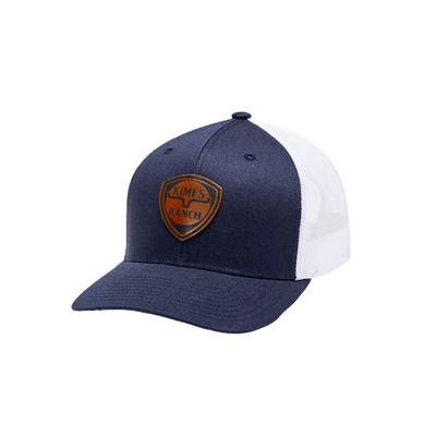 Kimes Ranch Men's Navy Leather Point Cap