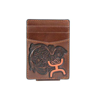 Hooey Signature Leather Money Clip Wallet