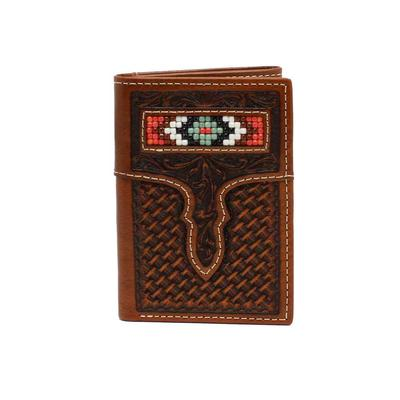 M&F Western Beaded Trifold Wallet