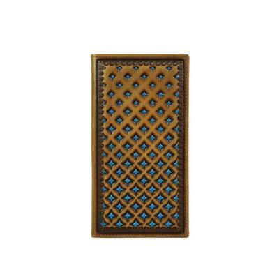 Justin Diamond Tooled Rodeo Wallet