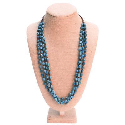 Women's Turquoise Heshi 4 Layer Necklace