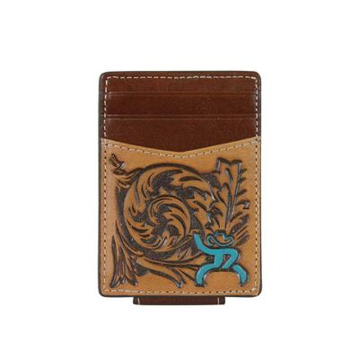 Roughy Tooled Logo Card Holder Wallet
