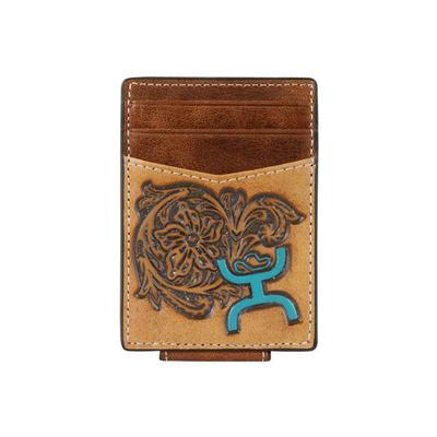 Hooey Tooled Logo Card Holder Wallet