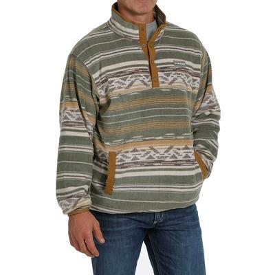 Cinch Men's Olive Fleece Pullover