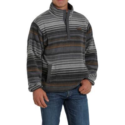 Cinch Men's Charcoal Stripe Fleece Pullover
