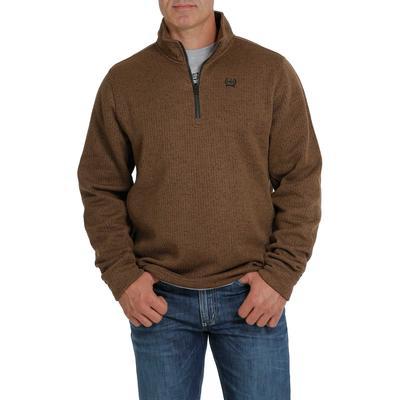 Cinch Men's Quarter Zip Bronze Pullover