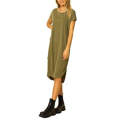 Hyfve Women's Dropped Shoulder Midi Dress