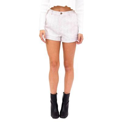 Women's Frayed Hem Plaid Shorts